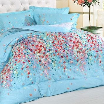 100% Cotton four pieces bedding suite - duvlet cover,bedspread,pillowcases from House Beauty