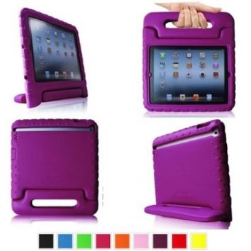 Fintie iPad 2/3/4 Kiddie Case - Light Weight Shock Proof Convertible Handle Stand Kids Friendly for Apple iPad 4th Generation With Retina Display, the New iPad 3 & iPad 2 - Purple