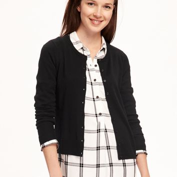 Classic Crew-Neck Cardi for Women|old-navy