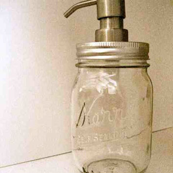 "Eco Friendly ""Betty"" Mason Jar Soap Dispenser Metal by TheHoneyShack"