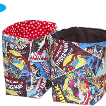NEW Storage Bin | The Avengers Bedroom Storage Basket | Hulk Basket | Thor | Captain America | Iron Man | Wolverine | Desk Organizer