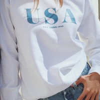 USA New York 1992 Oversized Sweatshirt