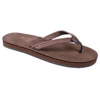 Rainbow Sandals Kid's Premier Leather Narrow Strap, Color: Expresso, Size: 9|10