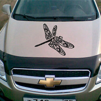 Car Hood Vinyl Decal Graphics Stickers Art Mural Animals Dragonfly KJ1491