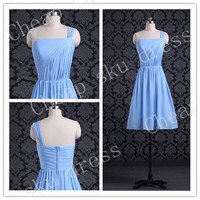 2014 Style Strapless A-line Zipper Chiffon Bridesmaid /Party / Evening /Prom / Formal Dress Custom Made New Design Sweetheart Sexy Dresses