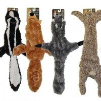"4 Stuffing Free Furry Dog Puppy 20"" Toys w/Squeakers"