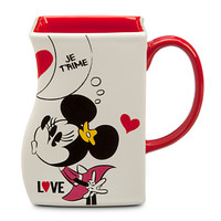 Mickey and Minnie Mouse Interlocking Mug - White