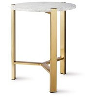 Nate Berkus™ Round Gold Accent Table with Marble Top