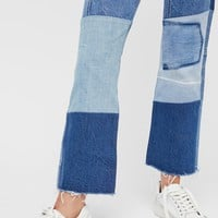 Free People Levi's 517 Patched Boot Jeans
