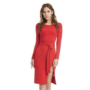 VONEC4W Winter Sexy Vintage Party Prom Dress Christmas Red Ladies One Piece Dress [9475976964]