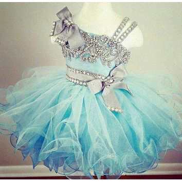 sparkly kids glitz pageant dresses for little girls silver and turquoise party dresses for girls curvy toddler pageant gowns