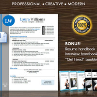 Resume Template / CV Template for MS Word / Professional and Modern Resume Design / Instant Digital Download / Mac or PC / Resume Success
