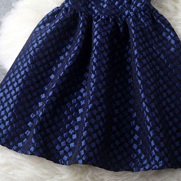 Cheap Retro Blue Handmade Beading Party Dress &Dress