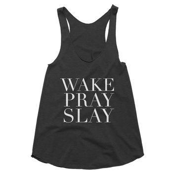 Wake Pray Slay Tank Top Gift Unique Gift High Quality Tank Gifts For Her Gifts For Best Friends Faith Gifts