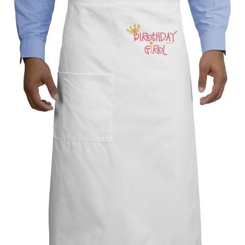 Birthday Girl - Princess Crown and Wand Adult Bistro Apron by TooLoud