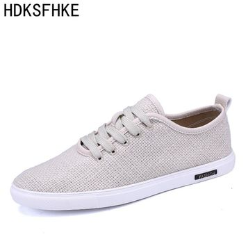 2017 new Shoes Men Hemp autumn spring Men Shoes Male Outdoor Walking Mens Fashion Brand Men Casual Shoes Driving shoes