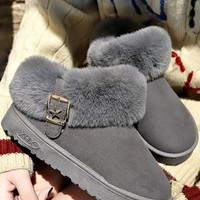 New Grey Round Toe Fashion Ankle Boots