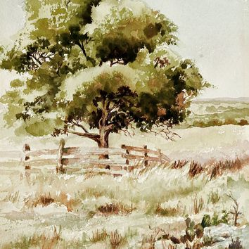 Plein Air Watercolor Landscape Painting