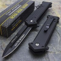 JOKER SPRING ASSISTED STILETTO TACTICAL FOLDING POCKET KNIFE BLADE BATMAN