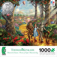 Thomas Kinkade - Wizard of Oz - Follow the Yellow Brick Road Puzzle
