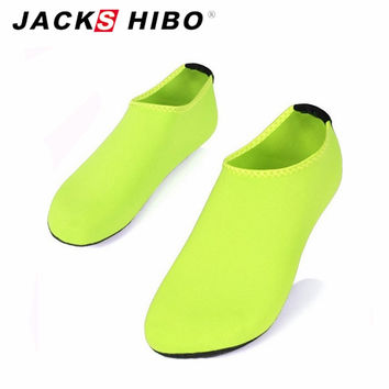 JACKSHIBO Summer New Design unisex Women Slipony Water Shoes Female Sandalias Slip On Aqua Slippers for Beach Waterpark Sandals
