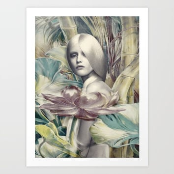 Woman of Nature Art Print by kamina22