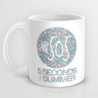 5SOS - 5 Seconds of Summer - Floral Mug by Valerie Hoffmann | Society6