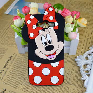 Cartoon Minnie Mickey Mouse Silicone Case Cover For Samsung Galaxy S3 Neo S4 S5 Neo S6 S6 Edge S7 S7edge J5 J7 2015 Grand Prime