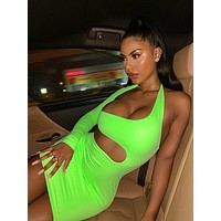 Natalie Neon Cut Out Dress