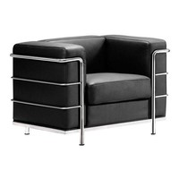Fortress Arm Chair Black Chromed Steel