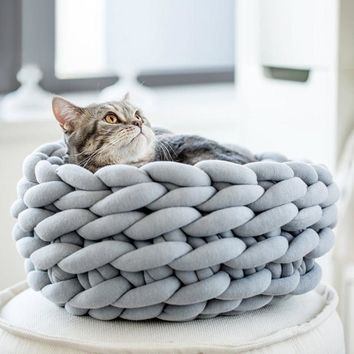 Braided Cat Bed Sofa In 3 Different Sizes