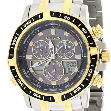 Citizen Eco-Drive Sailhawk Chronograph Stainless Steel Watch JR4054-56E
