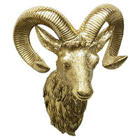 """One Kings Lane - Alpine Accents - 14"""" Ram Wall Décor"""