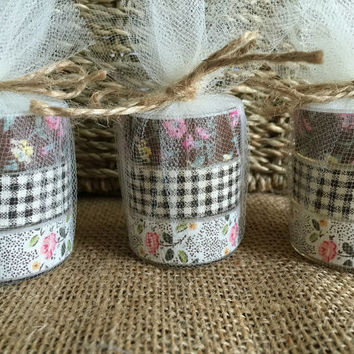 10x rustic wedding favor, tea light candles perfect for wedding, bridal shower or baby shower favor.