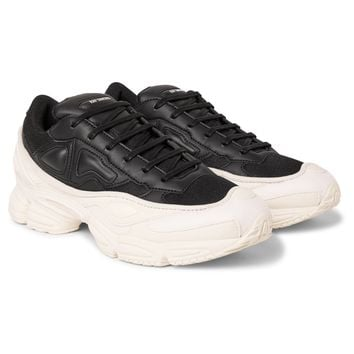 "Black and White Color Block ""Ozweego"" Sneakers by RAF SIMONS"