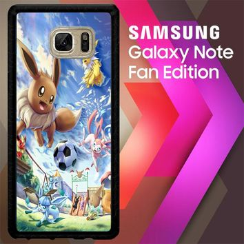 Eevee And Umbreon And Espeon X0915 Samsung Galaxy Note FE Fan Edition Case