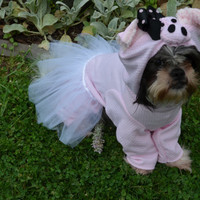 Pink Ballerina Pig with tutu Dog Halloween Costume