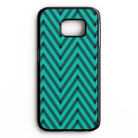 Sketchy Black And Blue Chevron Samsung Galaxy S6 Edge Case