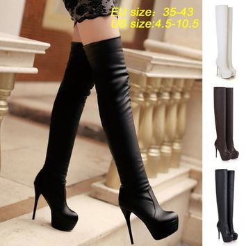 Thigh High Boots For Women | Stiletto Heeled Boots