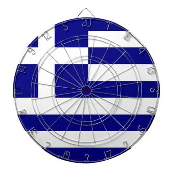 Dartboard with Flag of Greece