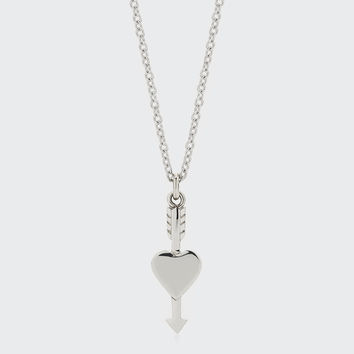 Heart Arrow & Necklace - silver