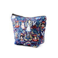 Alice in Wonderland (Navy) Makeup Bag - Rifle Paper Co. Fabric (Free UK P&P)