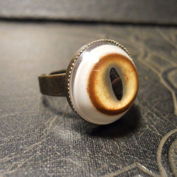 Bobcat Cats Eye Taxidermy Glass Eye Ring by TheCuriositeer on Etsy