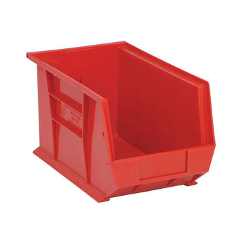 Quantum Storage Systems Ultra Stack And Hang Bin 13-5/8Lx 8-1/4Wx 8H Red Pack Of 12