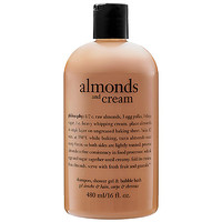 philosophy Almonds And Cream Shampoo, Shower Gel & Bubble Bath  (16 oz)