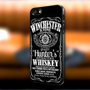 Winchester and Sons Supernatural Whiskey iPhone case, Supernatural Whiskey Samsung Galaxy s3/s4 case, iPhone 4/4s case, iPhone 5 case