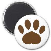 Brown Paw Refrigerator Magnets