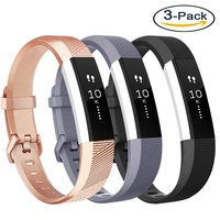 Vancle Fitbit Alta HR Bands and Fitbit Alta bands, Newest Sport Replacement Wristbands with Secure Metal Buckle for Fitbit Alta HR / Fitbit Alta