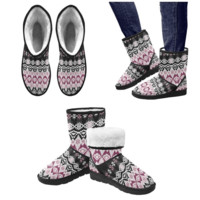 Gypsy Geometric Style Unisex Snow Boots