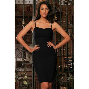 Black Stretchy Sweetheart Bodycon Fancy Cocktail Party Dress - Women